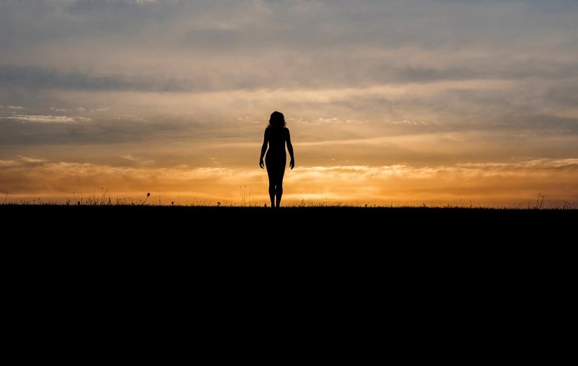Silhouette di donna