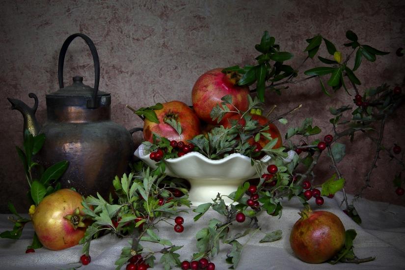 Still life.Frutti d'autunno.