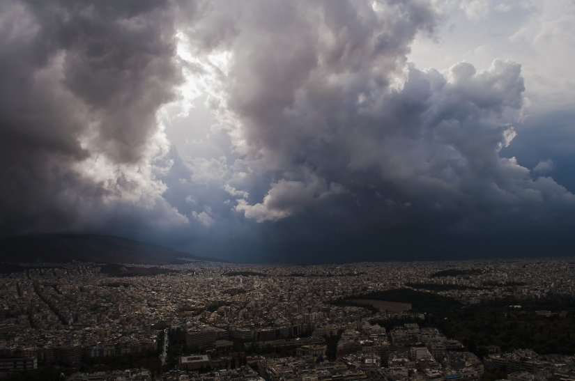 Storm over Athens