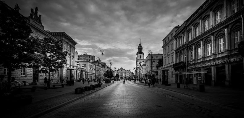 Sulle strade di Varsavia (Polonia)