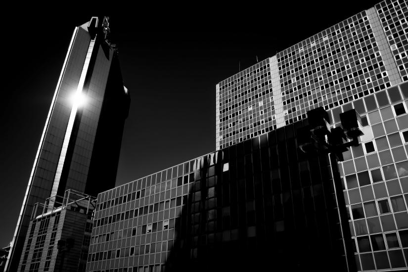 Sun & skyscrapers