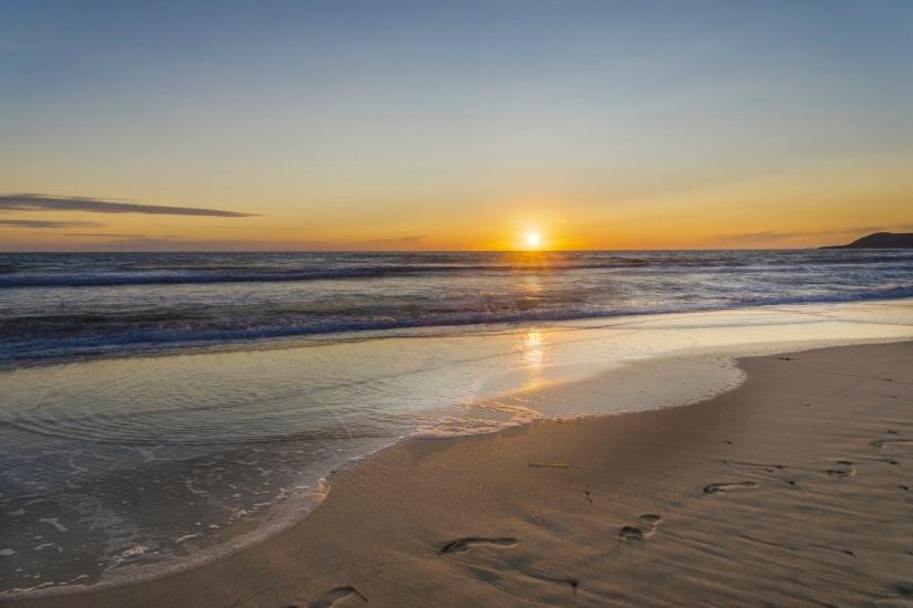 Sunset in thriller beach