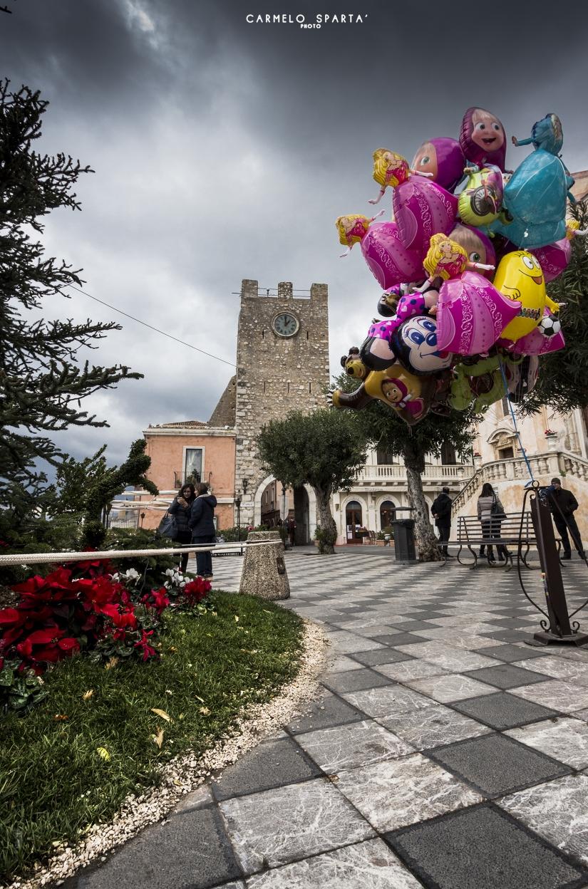 Taormina ed i suoi colori invernali