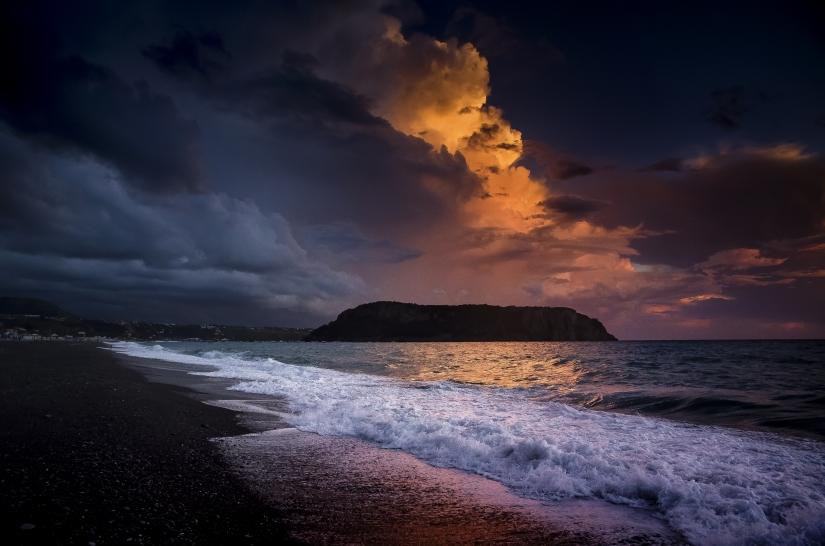 Temporale al tramonto