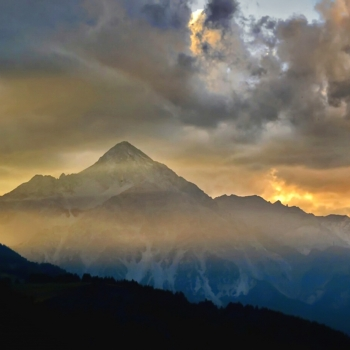 The Last light over the Alps