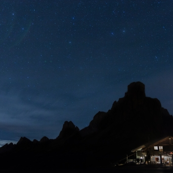 The magic of the night in the mountains
