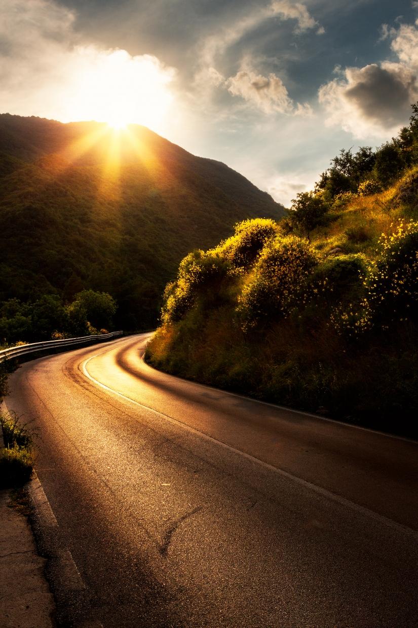 The road sun