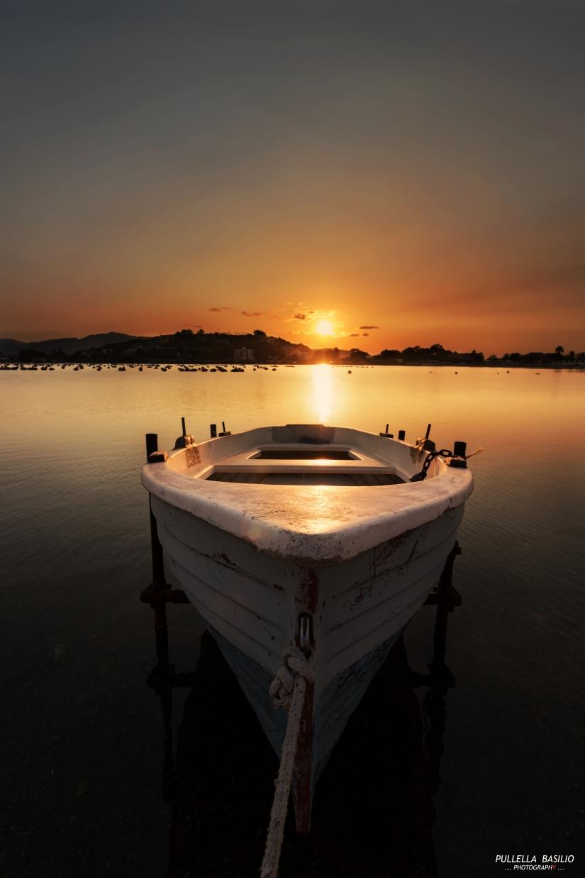 Tramonto al lago Ganzirri