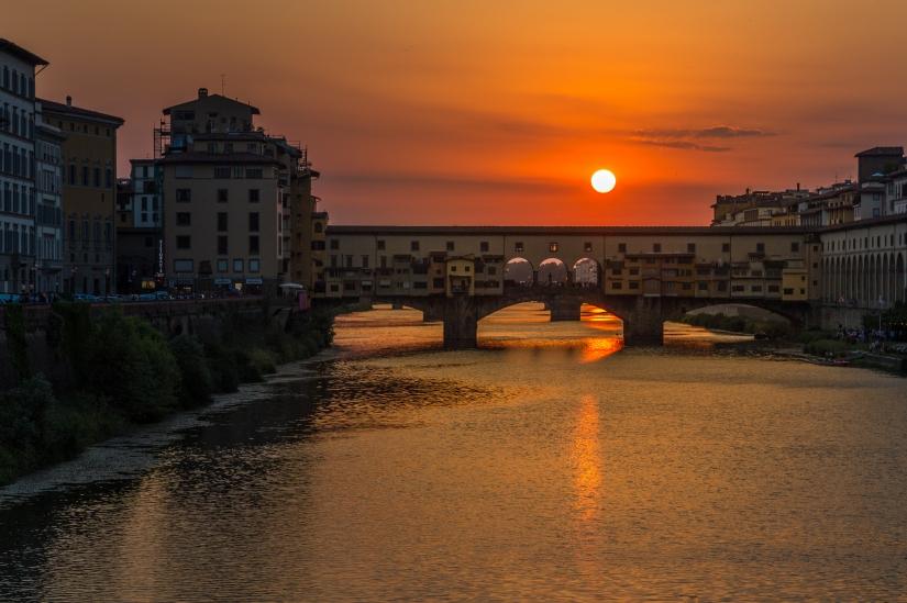Tramonto al Ponte Vecchio