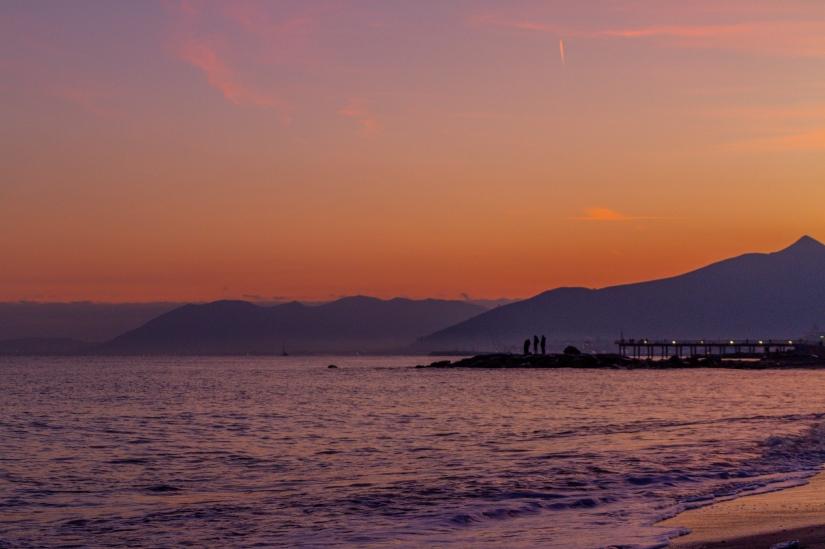 Tramonto in Liguria