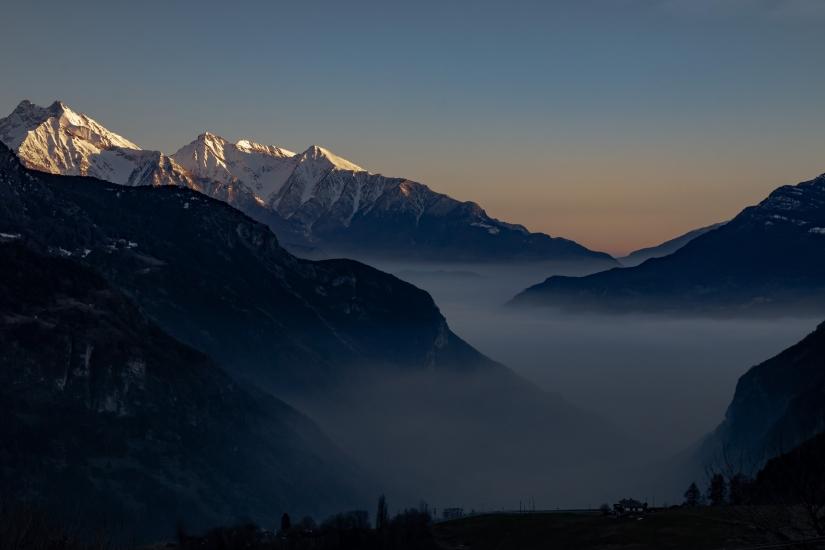 Tramonto in Valtournenche