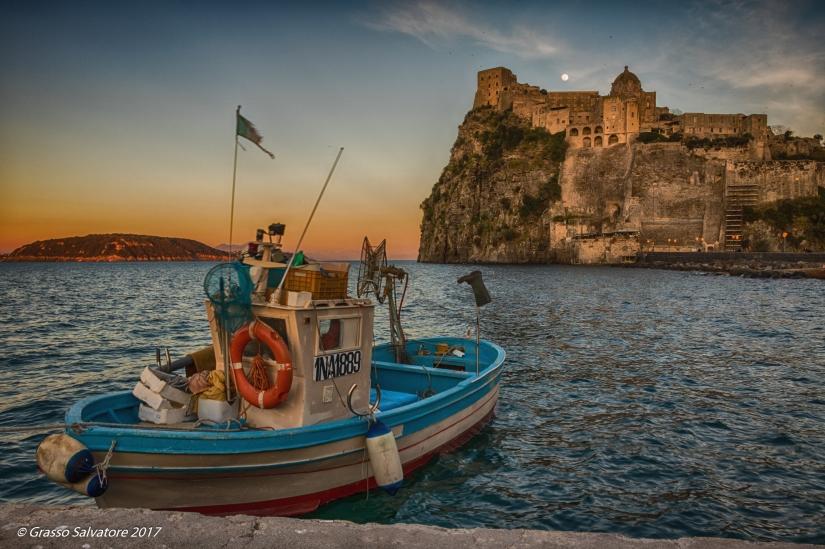 Tramonto sul Castello Aragonese