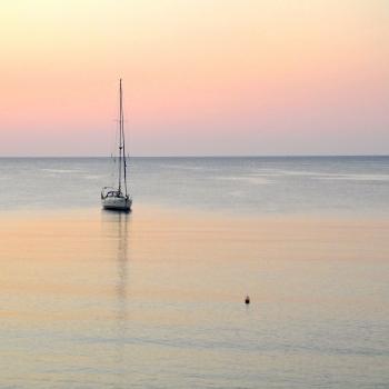 Tramonto sulla baia di Haraki (Rhodes - Grecia)