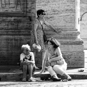 Troppo caldo a Roma !! Street Piazza della Repubblica