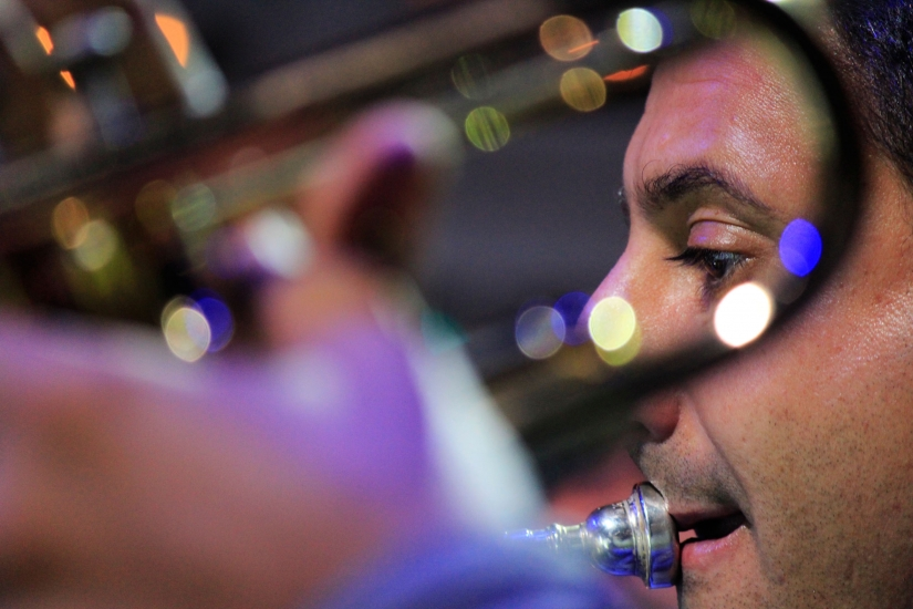Trumpeter in the trumpet