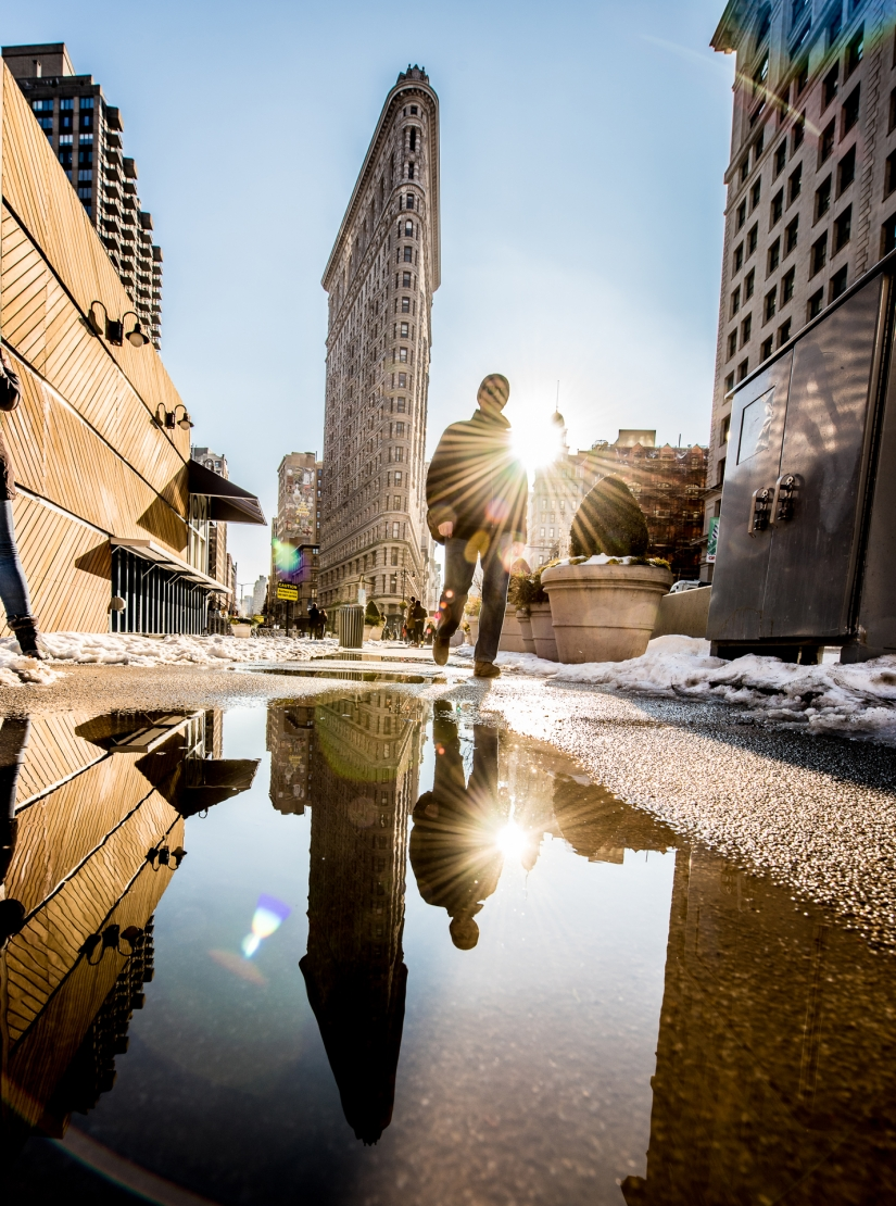Un giorno a New York City.