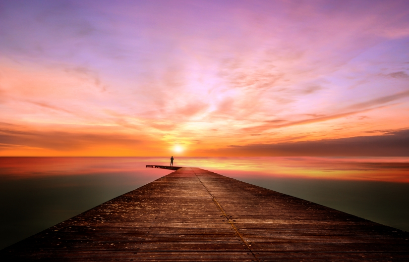 Un riflessivo tramonto