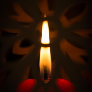 Una candela....