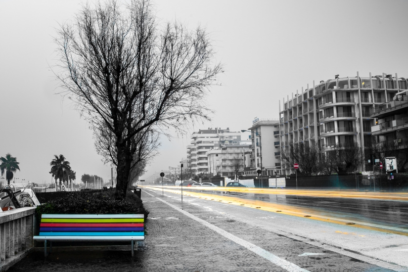 Una strada di Rimini