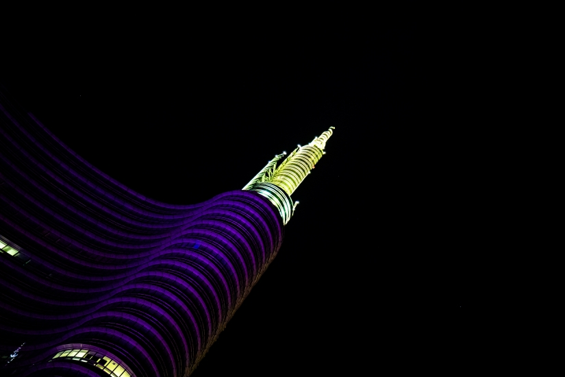 Unicredit Tower by night