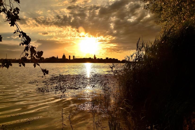 Uno dei mille tramonti di Mantova