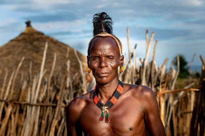 Uomini della Omo Valley - Etiopia