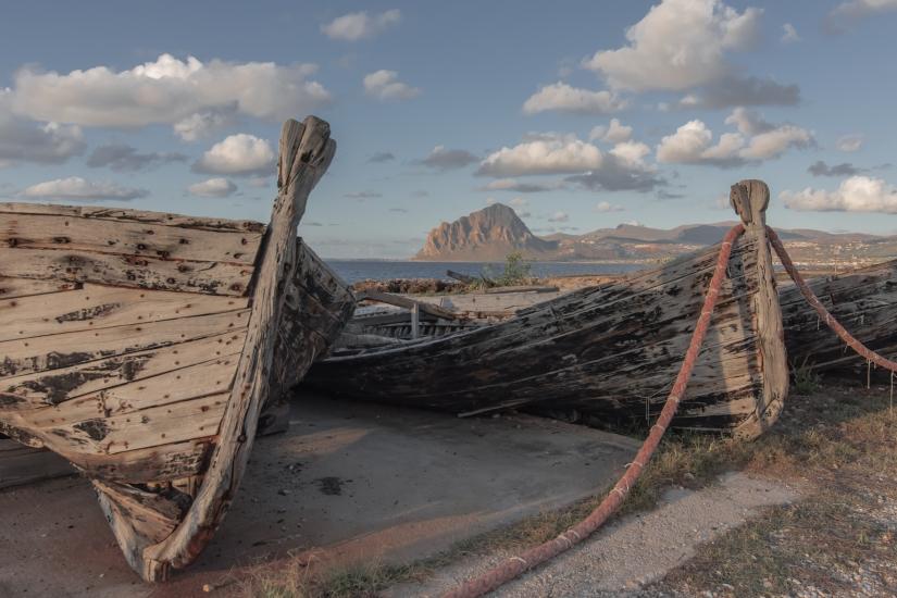 Vecchie barche di tonnara