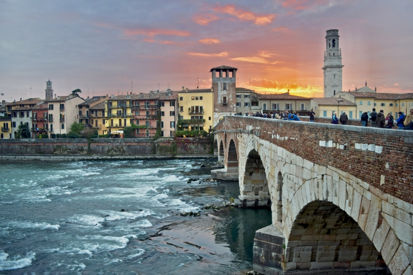 Verona raccontata dagli occhi di un tramonto