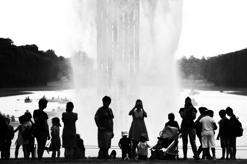 Versailles, O.Eliasson, turisti.