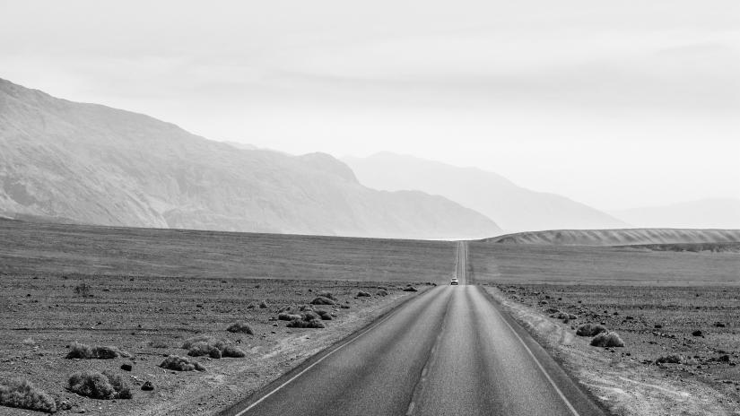 Verso la Badwater (Death Valley