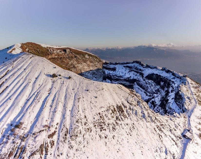 Vesuvio Nevicata Eccezionale del 27 Febbraio 2018