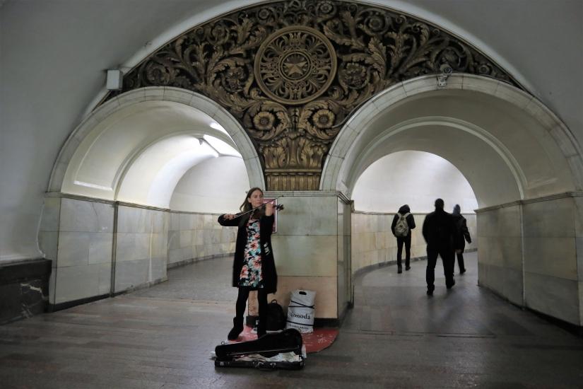 Violinista in metropolitana