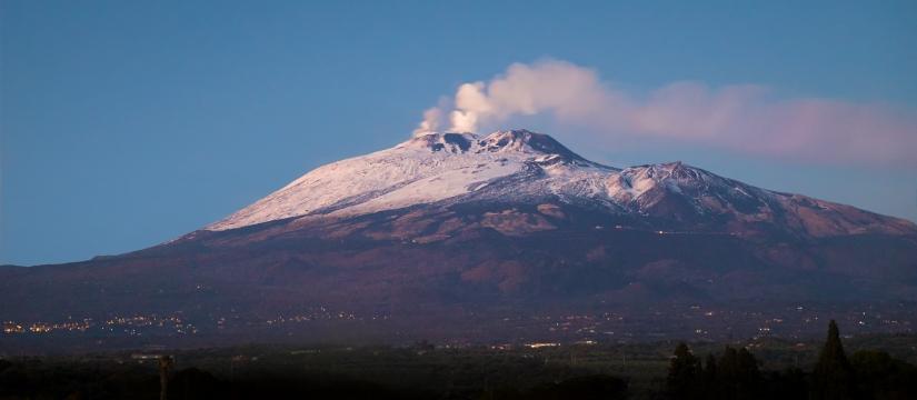 Vista su Etna