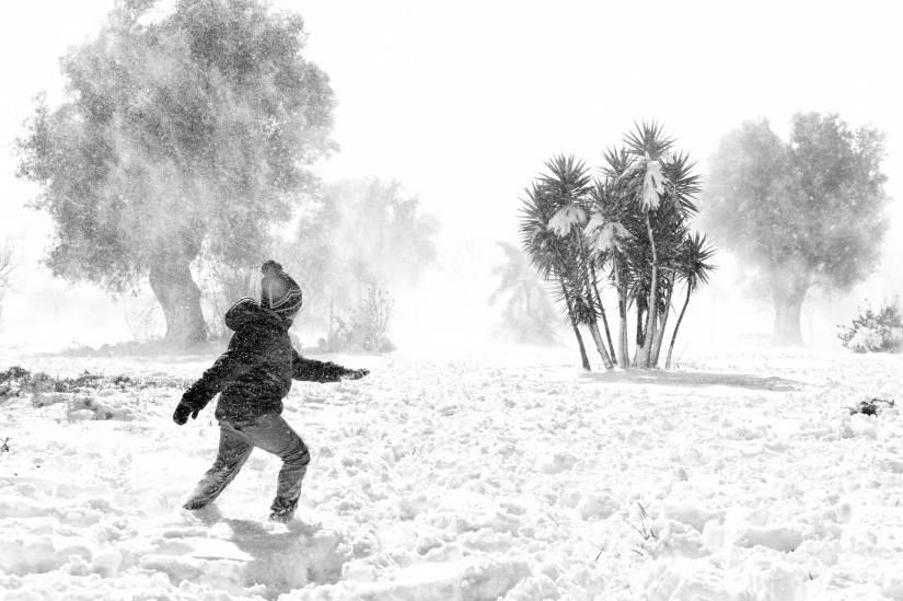 Walking in the snow