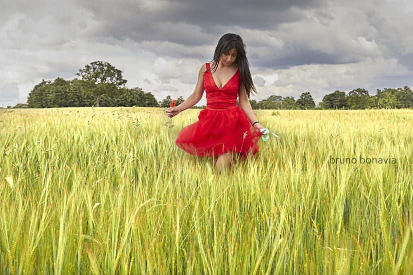 Walking in the wheat